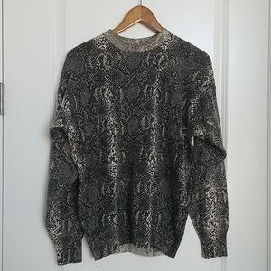 Krizia Maglia Vintage Knit Snakeskin Sweater